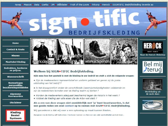 SIGN•TIFIC Bedrijfskleding